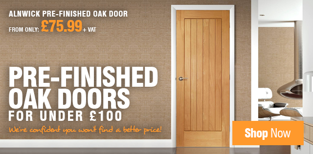 Pre-Finished Oak Doors for under £100