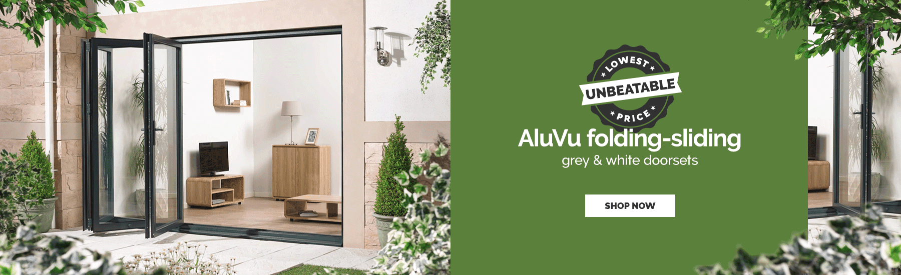 June - AluVu sliding-folding doorsets