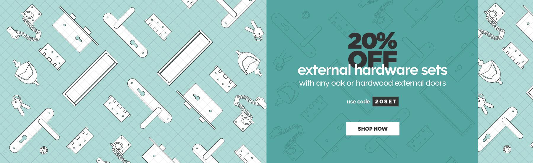 July - 20% off external hardware sets