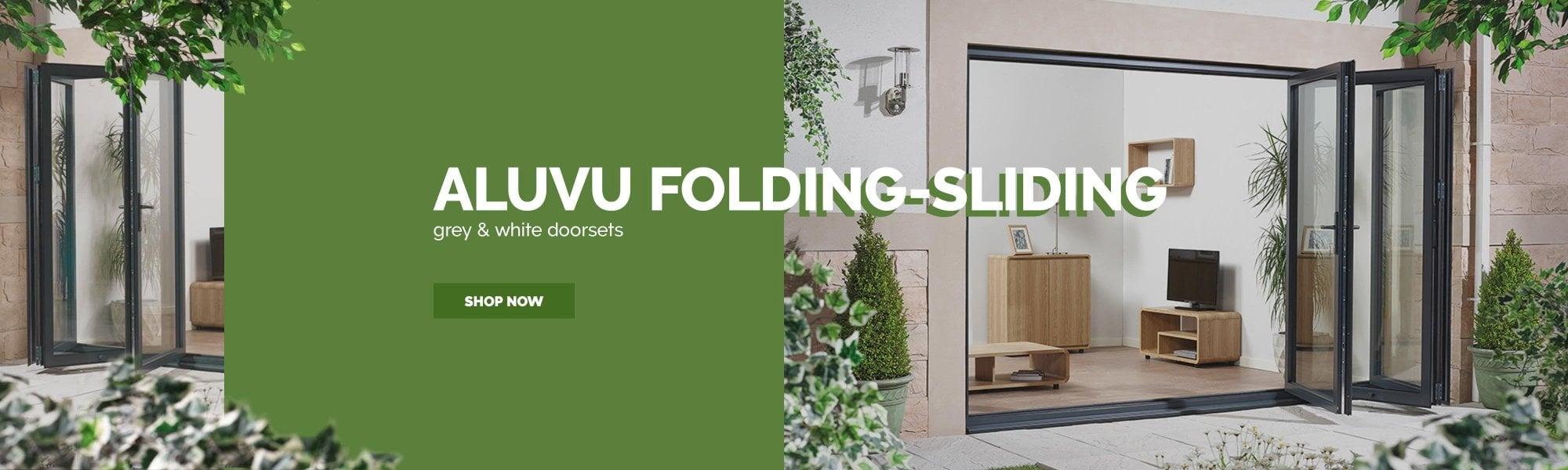 AluVu sliding-folding doorsets