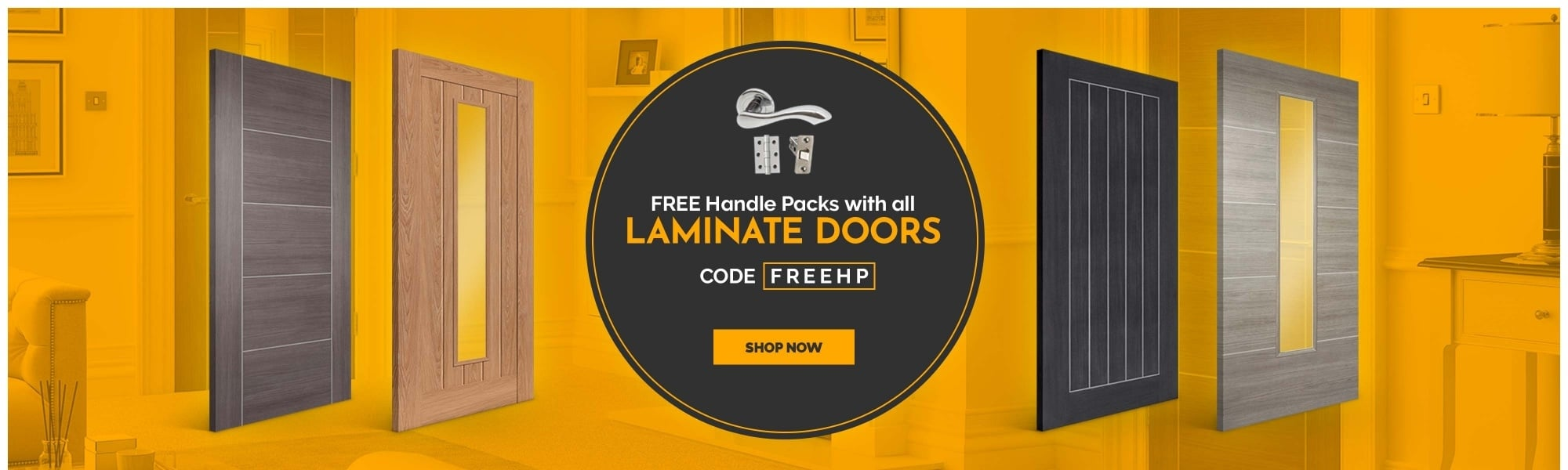 FREE handle packs with all Laminate Doors