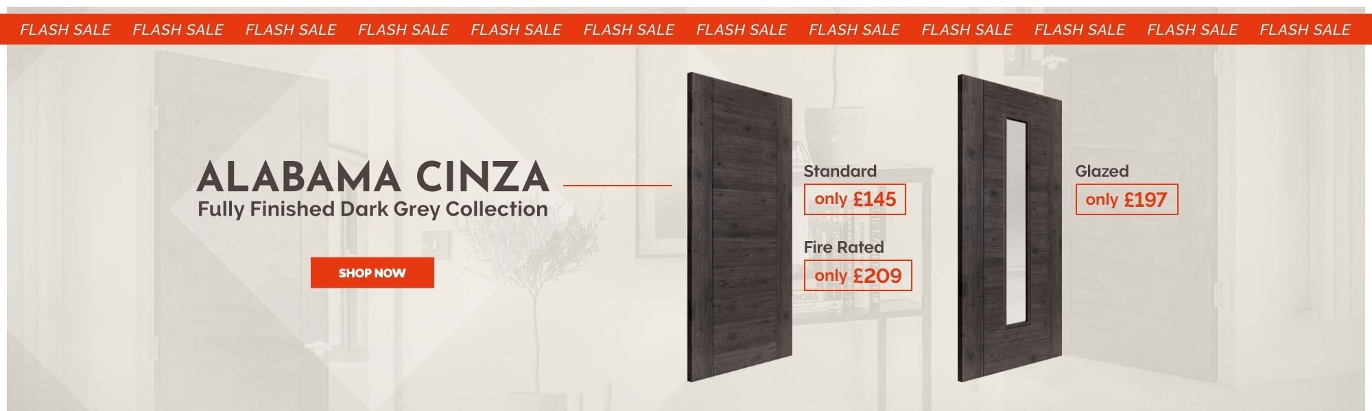 Dark Grey Alabama Cinza Door SALE