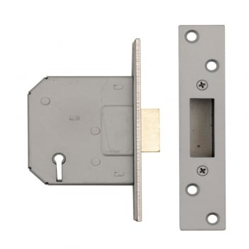 Dale Hardware Nickel Plated 5 Lever Mortice Dead Lock