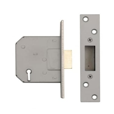 Nickel Plated 5 Lever Mortice Dead Lock
