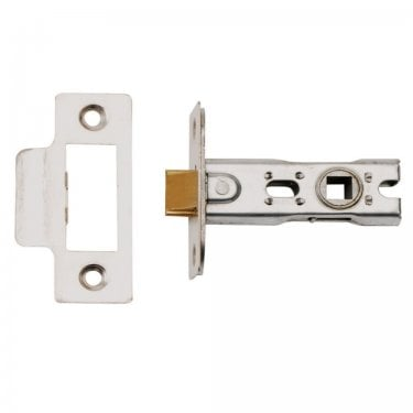 Nickel Plated 76mm Bolt Through Tubular Mortice Latch (DH002171-BT)