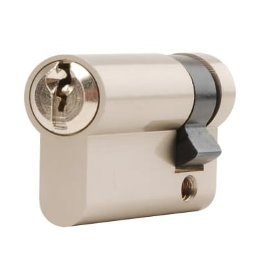 Nickel Plated Euro Single Cylinder (DH002997)