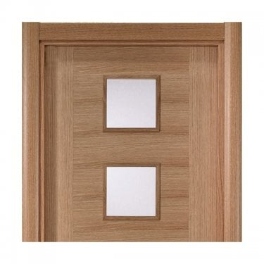 Oak Varnished Modern Architrave Set (OCLRA70V)