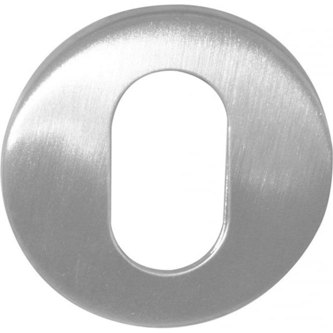 Frelan Hardware Oval JPS17 Polished Stainless Steel Round Key Escutcheon