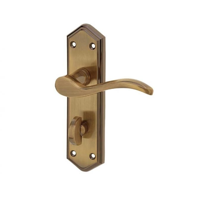 Frelan Hardware Paris JV283AB Antique Bronze Bathroom Lever On Backplate Handle