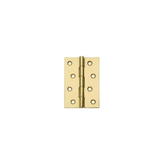 Dale Hardware Polished Brass 76mm Double Steel Brass Washered Hinge (Pair)