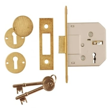Polished Brass Euro Profile Mortice Dead Lock Case