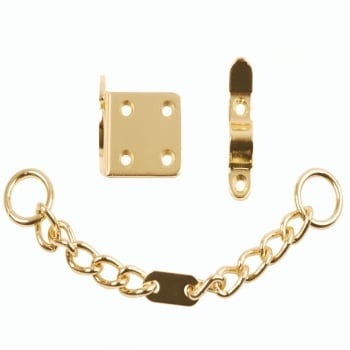 Dale Hardware Polished Brass Narrow Style Door Chain