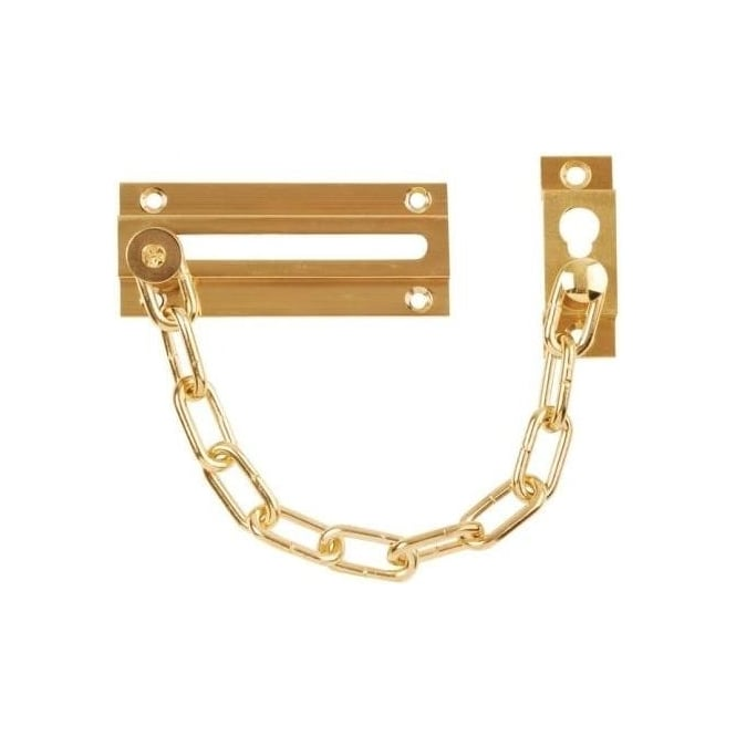 Dale Hardware Polished Brass Standard Steel Door Chain