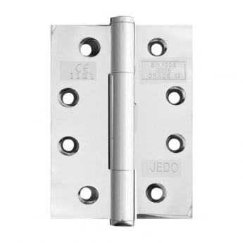 Frelan Hardware Polished Chrome 102 x 76mm Concealed Bearing Hinge - CE Tested Grade 12