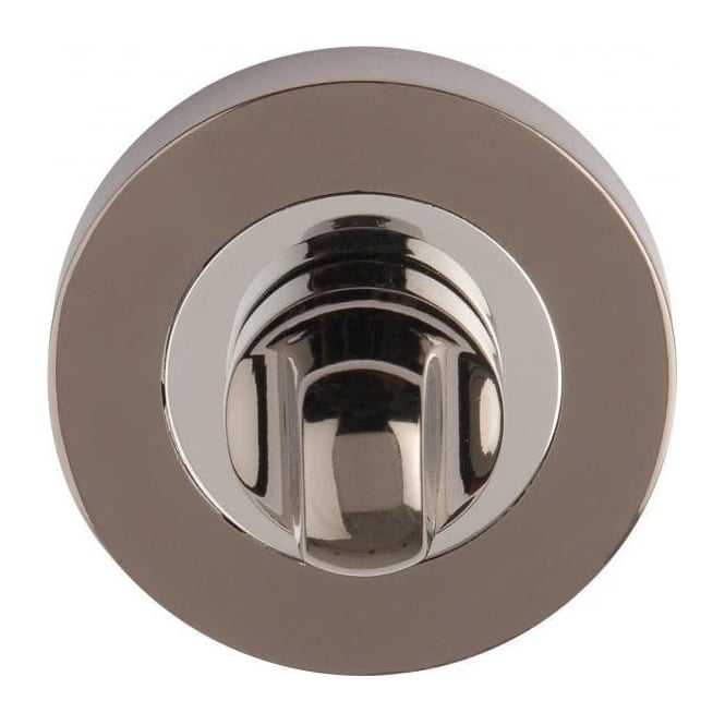 Dale Hardware Polished Chrome/Black Nickel Bathroom Turn And Release