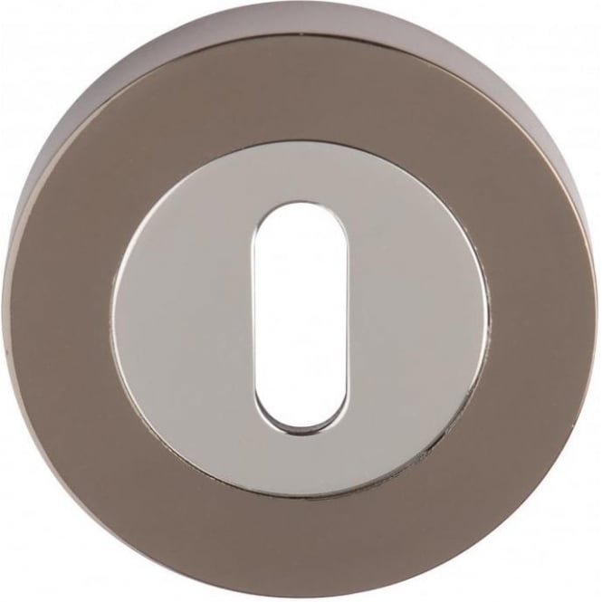 Dale Hardware Polished Chrome/Black Nickel Keyhole Escutcheon (Pair)