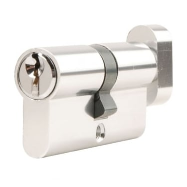 Polished Chrome Contract Cylinder & Turn (DH003002AL)