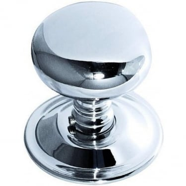 Polished Chrome Mushroom Mortice Knob (JV46PC)