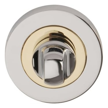 Polished Chrome/Polished Electro Brass Round Bathroom Turn & Release (DH003632)