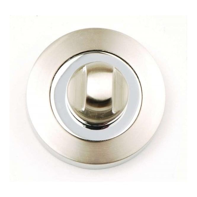 Dale Hardware Polished Chrome/Satin Nickel Bathroom Turn And Release