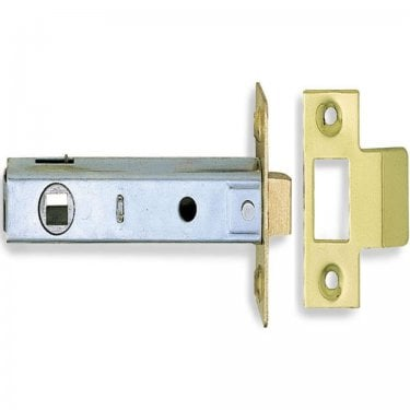 Polished Electro Brass 76mm Tubular Mortice Latch (DH002173)