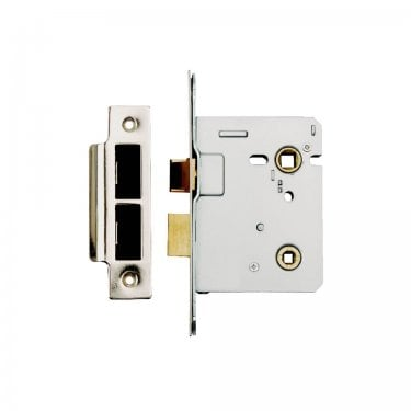 Polished Stainless Steel 63mm Bolt Through Bathroom Lock (DH002191)