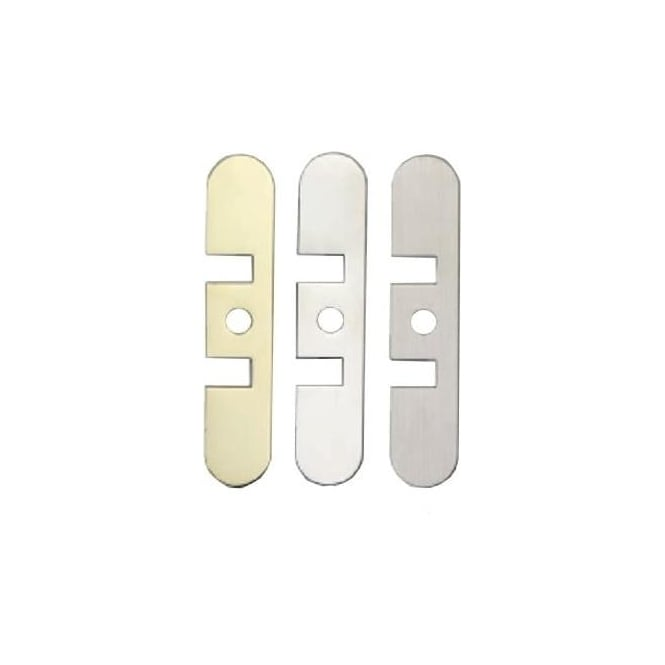 Dale Hardware Polished Stainless Steel Jamb Closer Cover Plate