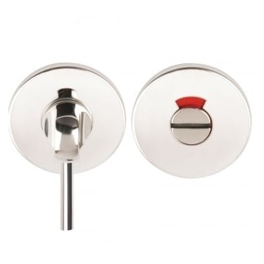 Polished Stainless Steel Round Disabled Bathroom Turn & Release With Indicator (DH003727a)