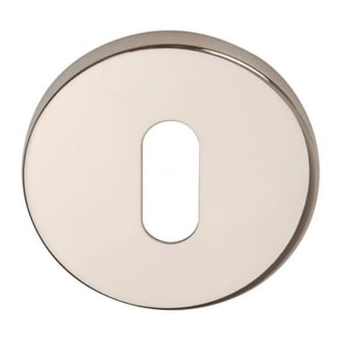 Polished Stainless Steel Round Keyhole Escutcheon