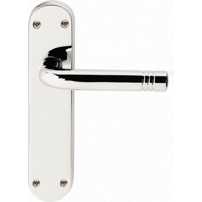 Frelan Hardware Porto JV661PC Polished Chrome Lever Latch On Backplate Handle