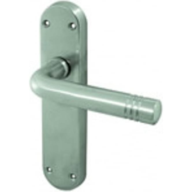 Frelan Hardware Porto JV661SC Satin Chrome Lever Latch On Backplate Handle