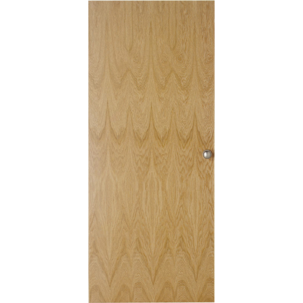 Internal white oak real wood over veneer flush door for Wood veneer garage doors