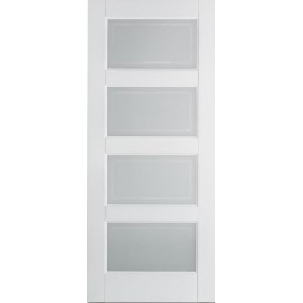 White contemporary frosted glass door at leader doors - White glass panel internal doors ...