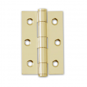 Polished Electro Brassed 75mm Button Tipped Hinge