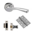 Rhine Fire Door Handle Pack - 65mm