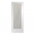 Internal White Primed Pattern 10 Door With Mottled Obscure Glass - 1981x686x35mm (78''x27'')
