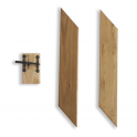 Internal Solid Oak Ledged Door Lock Block/Bracing Pack