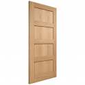 Internal Oak Unfinished Contemporary 4 Panel Door - 1981x762x35mm (78''x30'')