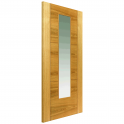 Internal Oak Fully Finished Contemporary Mistral 1L Door with Clear Glass - 2040x826x40mm (80.3''x32.5'')
