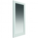 Internal White Primed Shaker Tobago 1L Solid Door with Clear Glass - 1981x686x35mm (78''x27'')