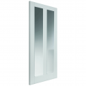 Internal White Primed Dominica Door with Clear Glass - 1981x686x35mm (78''x27'')