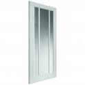 Internal White Primed Shaker Trinidad 3L Solid Door with Clear Glass (CTRI) - 1981x686x35mm (78''x27'')