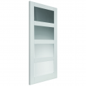 Internal White Primed Caymen Door with Clear Glass - 1981x686x35mm (78''x27'')