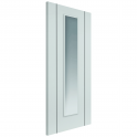 Internal White Fully Finished Parelo Door with Clear Glass - 1981x686x35mm (78''x27'')