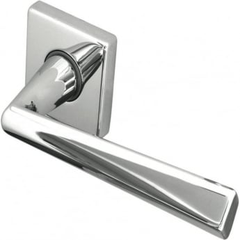 Frelan Hardware Reguitti JV409PC Polished Chrome Rombo Lever on Rose Handle