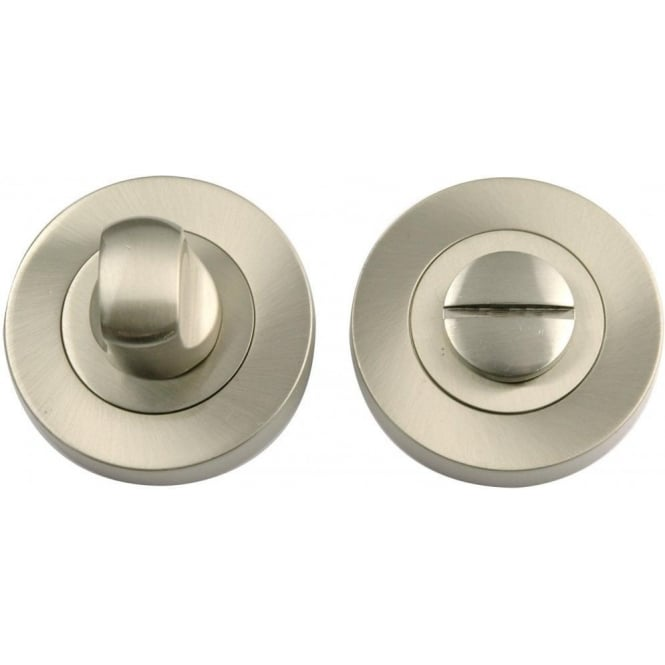 Dale Hardware Satin Nickel Bathroom Turn And Release