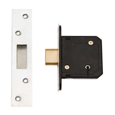 Satin Stainless Steel BS3621 5 Lever Mortice Dead Lock