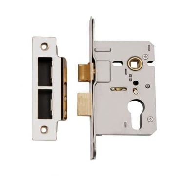 Satin Stainless Steel Euro Profile Mortice Sash Lock Case