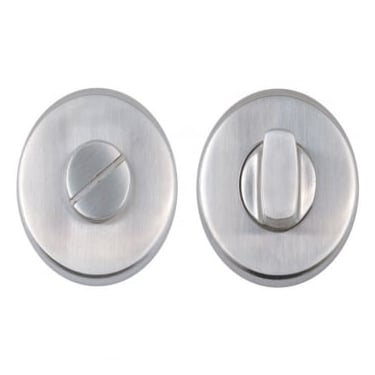 Satin Stainless Steel Round Bathroom Turn & Release (DH003712)