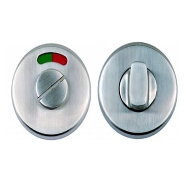 Satin Stainless Steel Round Bathroom Turn & Release With Indicator (DH003712a)